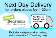 next day delivery from Cheap Bedroom Furniture