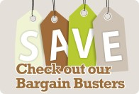 Save money with our bargain busters